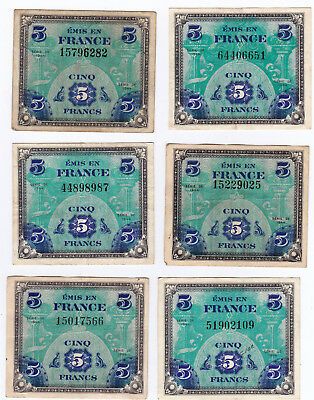 Military Currency, France, 5 Francs