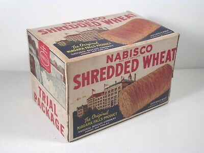 Vintage NABISCO Shredded Wheat Cereal Box Sample 1941 - Nice Graphics