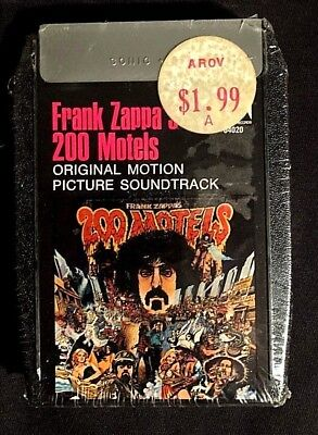 1971 Frank Zappa 200 Motels -Sealed- 8 Track Audio Tape Ringo Starr No Dill Hole
