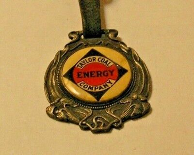 Rare Adv. Taylor Coal Energy Company  Chicago & St. Louis Watch Fob W/strap