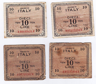 Military Currency, Italy, 10 Lire