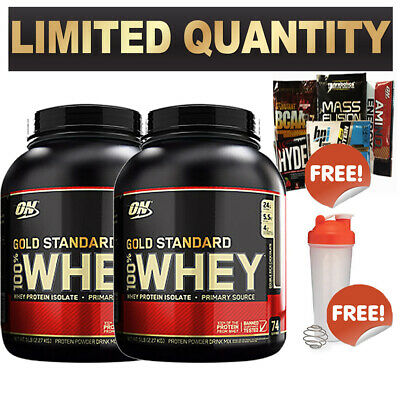 2X Optimum Nutrition 100% Whey 5Lb Gold Standard Wpi Wpc On Protein $ Total 10Lb