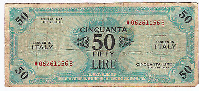 Military Currency, Italy, 50 Lire