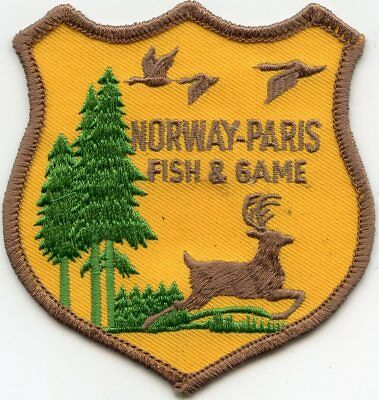 NORWAY - PARIS MAINE ME FISH AND GAME Wildlife DNR POLICE PATCH