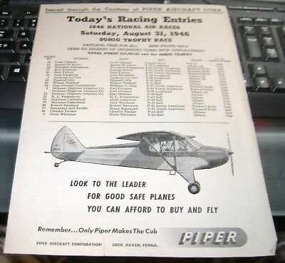 1946 National Air Races - Poster