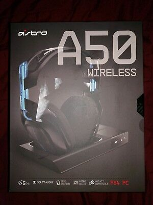 NEW Astro Gaming A50 Wireless Headset + Base Station for PlayStation 4 Black