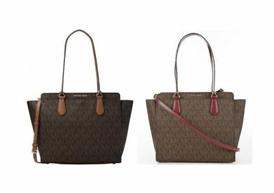 9dcbc3441fdb82 NWT $358 Michael Kors Dee Dee Large Signature Convertible Tote 30F6GTWT9B