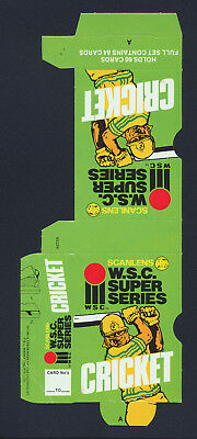 1981 Scanlens WSC Super Series Cricket Card Box