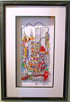 """Charles Fazzino """"You can Bank on it New York"""" 3-D Art Signed Numbered 78/200 DX"""