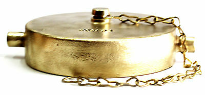 "4-1/2"" NST - NH Fire Hydrant Brass Cap and Chain NNI HSR-4500B"