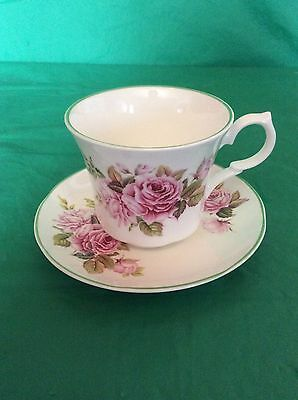 Belmont Fine Bone China England Cabbage Rose Cup & Saucer