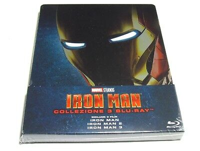 Iron Man Trilogy Blu-Ray Collection Steelbook Import Marvel Limited Edition New