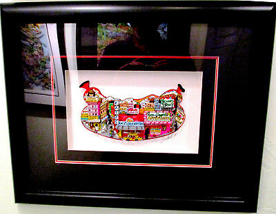 """Charles Fazzino """"From Hot Pastrami to Cold Salami"""" 3D Art Signed Numbered 67/400"""