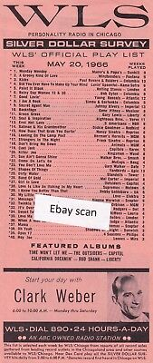 WLS Chicago Top 40 Radio Music Survey 5-20-66 Gene Pitney #10 Backstage