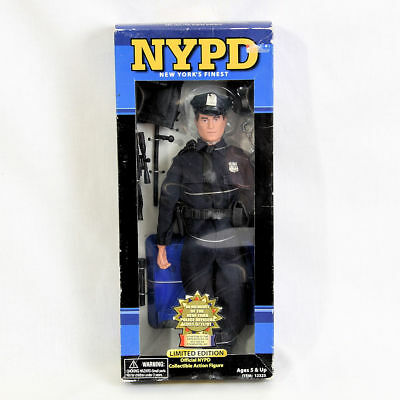 """Real Heroes NYPD New Yorks Finest 9/11 Tribute Police Action Figure 12"""" NEW"""