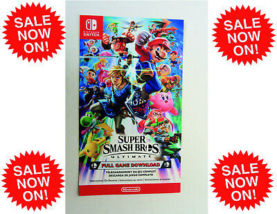 Super Smash Bros Ultimate (MAILED) CARD (Nintendo Switch, 2018)