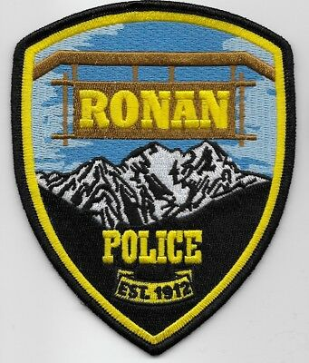 Scenic Ronan Police State Montana MT Shoulder patch