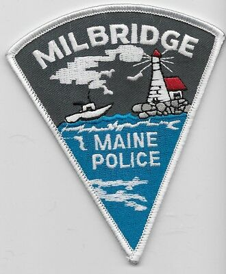 Lighthouse & Boat Milford Police State Maine ME patch