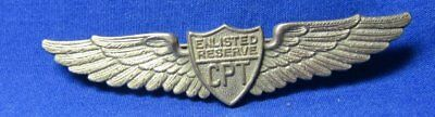WWII Sterling CPT Civilian Pilot Training Program Wings #d Badge by Danecraft
