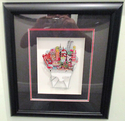 """RARE Charles Fazzino """"Chow Down in Chinatown"""" 3D Art Signed and Numbered 67/400"""