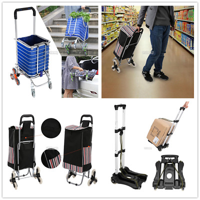 170lbs Cart Folding Dolly Collapsible Trolley Push Hand Truck Moving Warehouse !
