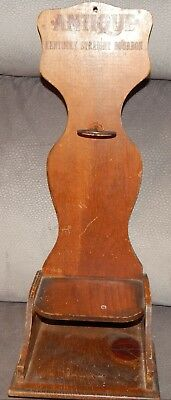 Vintage Antique Kentucky Straight Bourbon Whiskey Wood Bottle Display Rack Rare