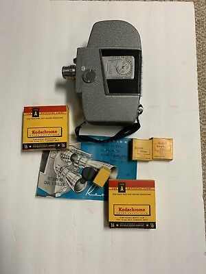 Working Vintage Revere 16mm Movie Camera Model 101 With Film