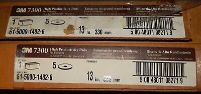 """Lot of 9 3M 7300 High Productivity Pads for Stripping Black 13"""" 330mm 5 & 4 Case"""