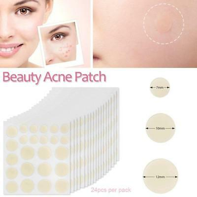 24X Beauty Invisible Face Patch Hydrocolloid DERMOPATCH Acne & Skin Tags Remover