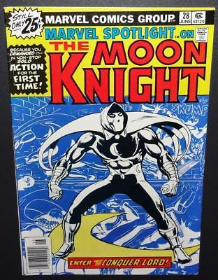 Marvel Spotlight #28 Moon Knight 1976 8.0 (VF) 1st Solo MK app; Future Movie!