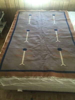 Large Old Navajo Yei Corn Rug Holy Senior Pastoral 50x70 Dancing?