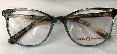 "New Authentic Etnia Barcelona ""Rennes"" Eyeglasses In Havana Turquoise, Case"