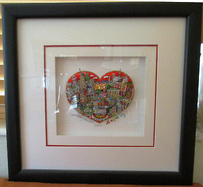 """Charles Fazzino """"The Heart of the City"""" 3D Art Signed and Numbered 92/250 DX"""