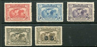 KINGSFORD SMITH SET OF 3 & 6' AIRMAIL & OS AIRMAIL Average  Mint