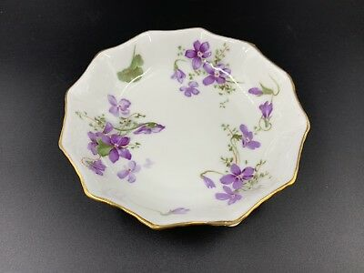 Hammersley Victorian Violet Around Sweet Candy Nut Dish Bone China England