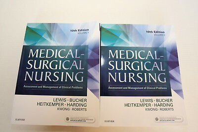 """Medical-Surgical Nursing 10th EDITION TWO (REAL) Book SET (NEW) """" REAL BOOKS """""""