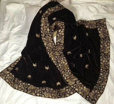 Pakistani Velvet Embroidery Shawl Party Wedding Wear