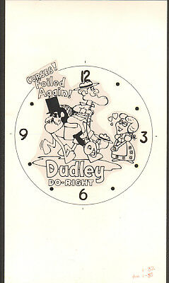 Dudley Do-Right -Original Bradley Time Character Watch Concept Art Work