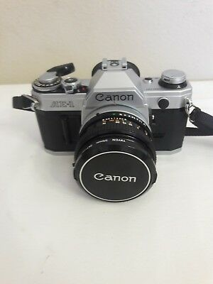 Canon AE-1 Program 35mm Film Manual Camera w/ 55mm sky  Lens Excellent Condition