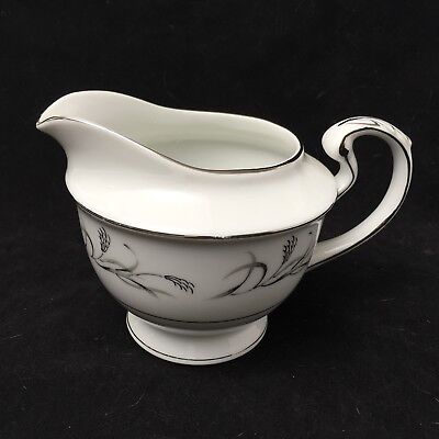 Harmony House Fine China PLATINUM GARLAND 3541 Creamer Silver Trim