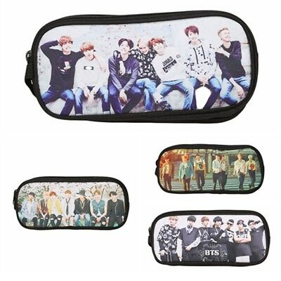 KPOP BTS Bangtan Boys Pencil Case Stationery School Supplies Bag Large Capacity