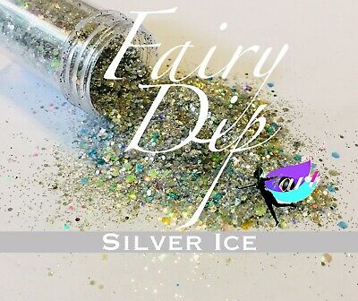 Chunky Glitter Hex Blend, Nail Art, Arts and Crafts, Silver Glitter