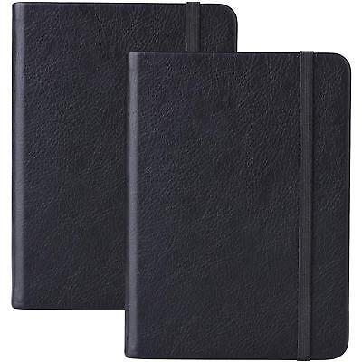 2 Pack Dotted Bullet Journal A6 Notebook Premium Thick Paper Executive Hard