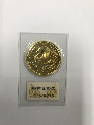 Japan Gold Coin 1990  The Enthronement of the Emperor K24 30.0g With Serial No.