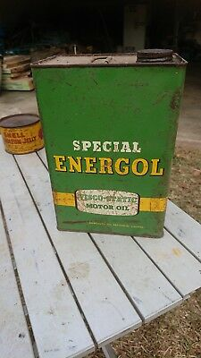 Bp Energol Oil Tin
