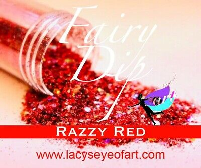 Chunky Glitter Hex Blend, Nail Art, Arts and Crafts, Red Glitter