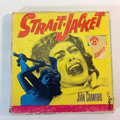 "Vintage 8mm Super 8 Sound Movie ""Strait Jacket"" Joan Crawford"