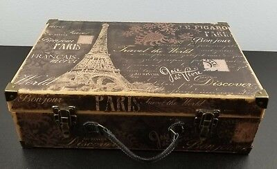 Pooch & Sweetheart Paris French Script Valet Case Luggage Memory Gift Box
