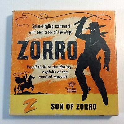 "Vintage 8mm Black and White Movie ""ZORRO"""