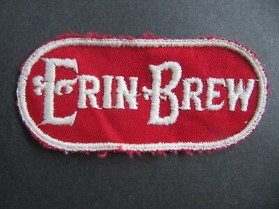 """Vintage Erin Brew """"the Standard Beer"""" 1933  Cleveland Embroidered Patch"""